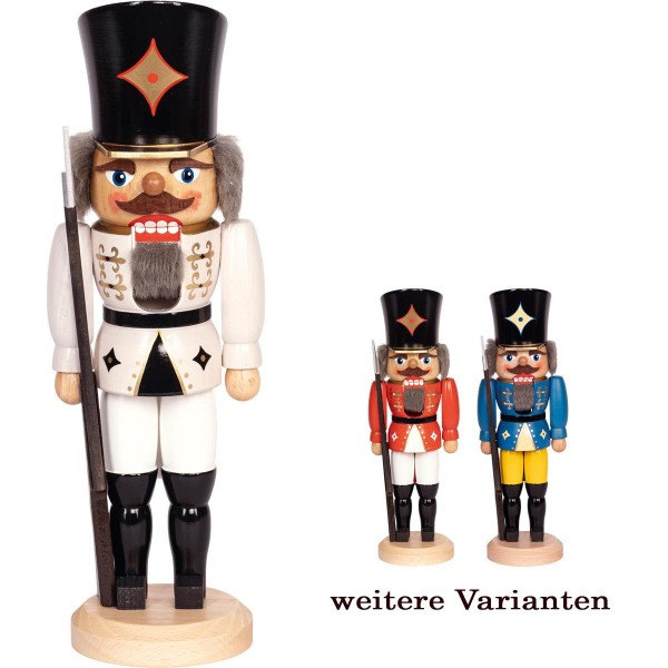 Nussknacker Soldat klassische Weihnachtsfigur in weiß