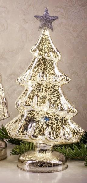 Beleuchteter Weihnachtsbaum, silber