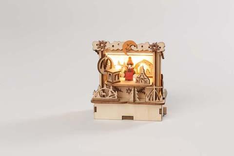 ''Weihnachtsmarkthütte'' (Flachdach) mit LED-Beleuchtung