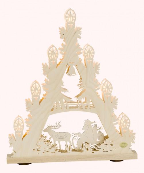 3D-Lichterspitze mit Weihnachtsmann