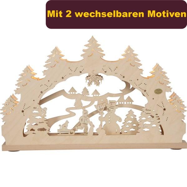 """Schwibbogen """"Winterwald"""" inklusive zweites Motiv"""