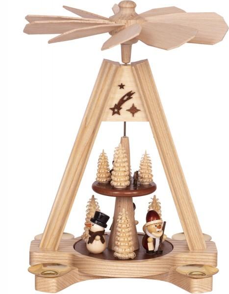 """Premium Tischpyramide """"Schneemann und Weihnachtsmann"""""""